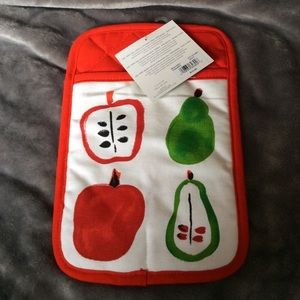 Kate spade fruit pattern oven mitt pot holder nwt